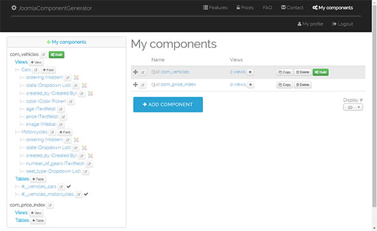 Manage your custom components